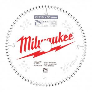 Milwaukee Rundsavklinge MS Alu216x30x2,4x80 - 4932471319