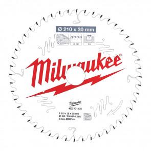 Milwaukee Rundsavklinge MS W210x30x2.8x48 - 4932471325