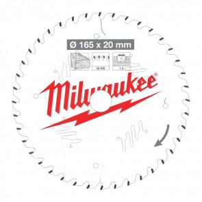Milwaukee Rundsavklinge W165x20x1.6x40 - 4932471932