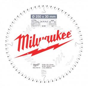 Milwaukee Rundsavklinge MS W250x30x2,8x60 - 4932472016