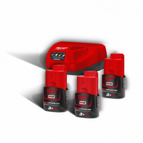 Milwaukee Batteri Startsæt M12 NRG-303 - 4933459207
