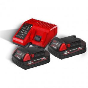 Milwaukee batterier & lader M18 NRG-202 18V 2,0Ah - 4933459213