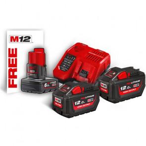 Milwaukee batterier & lader M18 HNRG-122 18V 12 Ah 4933464261