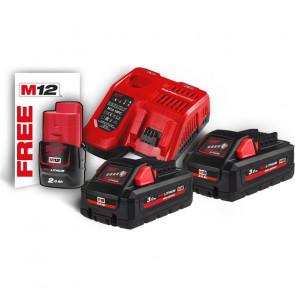 Milwaukee batterier & lader M18 HNRG-302 18V 3,0 Ah - 4933471071