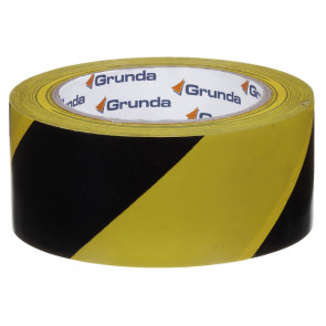 Grunda advarselstape gul/sort 50 mm x 33 m - 500050513