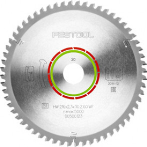Festool Rundsavklinge (216x2,3x30) WZ/FA60 - 500123