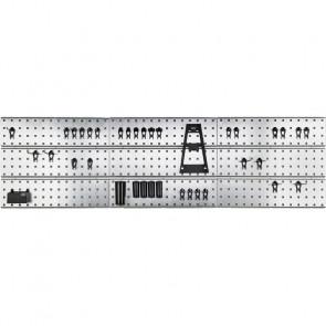 Raaco Hulplade til væg x3/Clips - Galvaniseret - 56109659