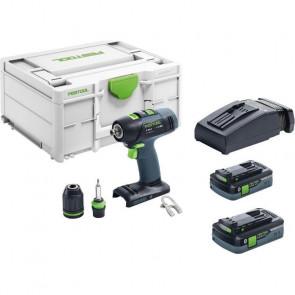 Festool akku bore-/skruemaskine T 18+3 HPC 4,0 I-Plus i Systainer3 - 576446