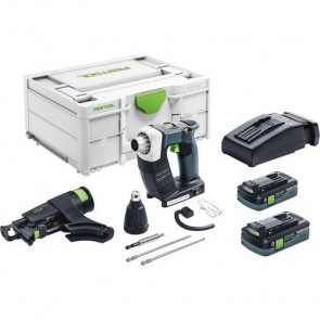 Festool Akku gipspladeskruemaskine DWC 18-4500 HPC 4,0 I-Plus i Systainer3 - 576502