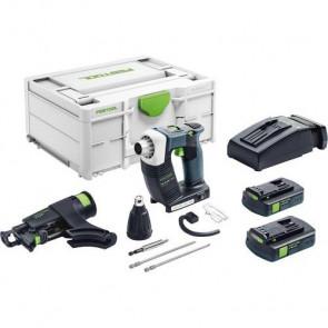 Festool Akku gipspladeskruemaskine DWC 18-4500 C 3,1-Plus i Systainer3 - 576505