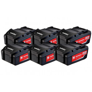 Metabo Batteri Basic Sæt 18V 6x4,0 Ah LI-POWER - 625151000