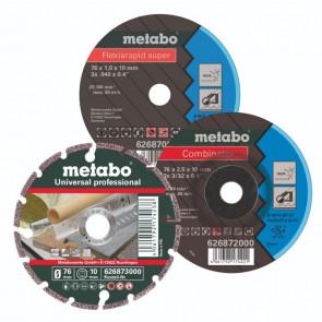 Metabo Startsæt til skæring, skrubning, slibning 76 mm.  626879000