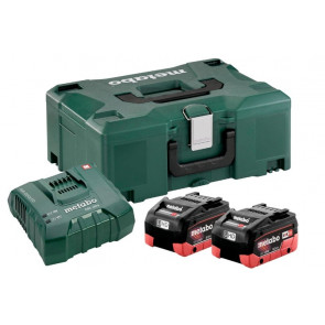 Metabo Basissæt 2 x LiHD 8,0 Ah + ASC ultra oplader i Metaloc kasse 685131000
