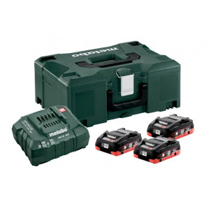 Metabo Batteri Basissæt 3 x LiHD 4,0 Ah + Metaloc