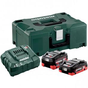Metabo Basic-Set LiHD batterier og oplader i MetaLoc - 685136000
