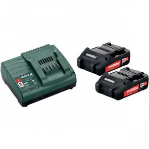 Metabo 18V Basic-Set2x 2,0Ah batterier med oplader - 685161000
