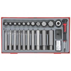 """Teng Tools unbrako bits-topsæt 1/2"""" TTHEX23 med 23 dele - 68850106"""