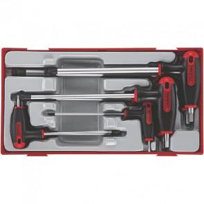 Teng Tools unbraconøglesæt T-greb TTHEX7 med 7 dele - 68930106