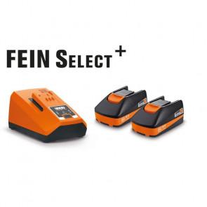 Fein Akku batteri 18v sæt 2 x 6 Ah + lader - 92604314010