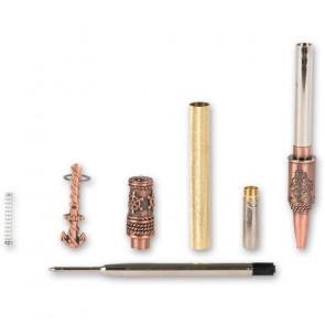 CraftProKits Nautisk Antik Kobber Twist Kuglepenne Sæt - AX101653