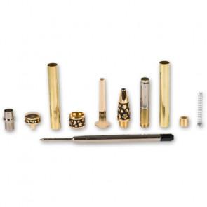 CraftProKits Formet Midnat Design 24KT Guld Twist Kuglepenne Sæt - AX101657