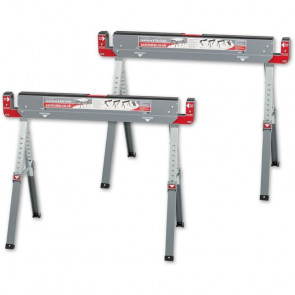 AXMINSTER TRADE SAW HORSE WORK TABLE (PAIR) - AX103349