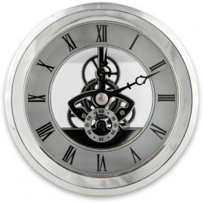 SKELETON CLOCK INSERT 100MM SILVER - AX103713
