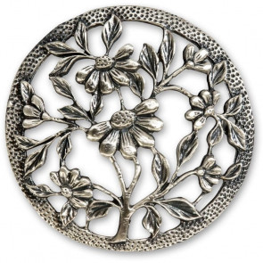 PEWTER LID FLOWERS - AX300271