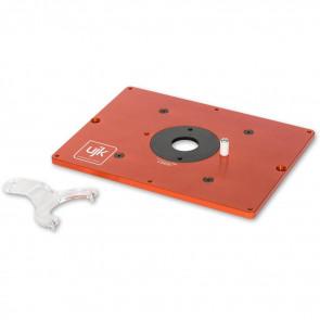 UJK ALUMINIUM ROUTER TABLE INSERT 10mm C/W BASE - AX502748