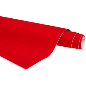 CRUSHED VELVET ADHESIVE ROLL RED 680MM X 500MM - AX600781