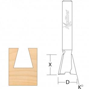 Axcaliber Svalehalefræser - 12,7 x 12,7 mm - K6,35 - AX666015