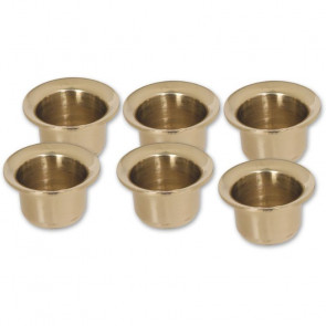 SET OF 6 SOLID BRASS CANDLE CUPS - AX700082