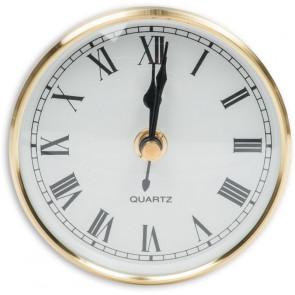 CLOCK INSERT 100MM BRASS RIM GLASS FRONT ROMAN - AX951753