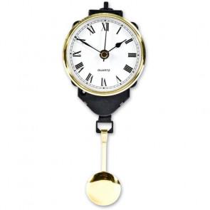 PENDULUM CLOCK 67MM BRASS RIM ACRYLIC FRONT ROMAN - AX951754
