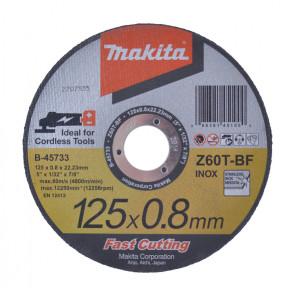 Makita skæreskive Inox 125x0,8x22,2mm B-45733