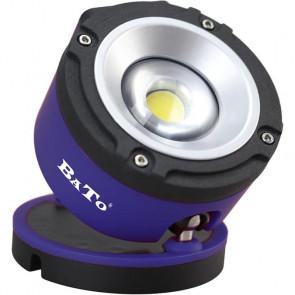 BATO Arbejdslampe LED COB 6W - Rund model 360° drejefod - Opladelig. - BA-65102
