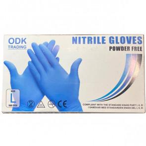 Nitril handsker 100 stk. - str. Medium / 8-9 - DJ001M