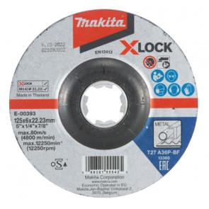 Makita Skrubskive X-LOCK 125x6x22,23mm Metal - E-00393