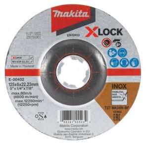 Makita Skrubskive X-LOCK 125x6x22,23mm Rustfri - E-00402