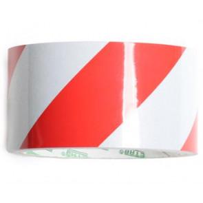 Reflekstape Rød/Hvid 50mm x 46m