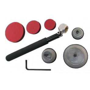 Hope trædrejer slibesæt med håndtag - 36, 47 & 72mm - HOPSCK3