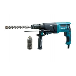 Makita bore-mejselhammer SDS-Plus inkl. 13mm borepatron & Makpac kuffert HR2631FTJ