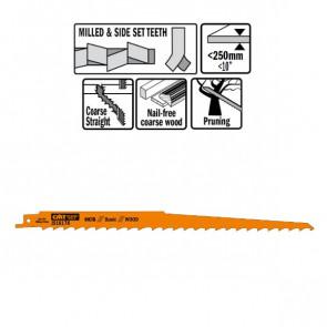 CMT Bajonetklinge 300mm HCS Basic (Træ, lige) JS1617K-5