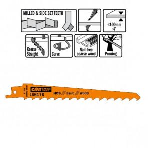 CMT Bajonetklinge 150mm HCS Basic (Træ, kurve) JS617K-5