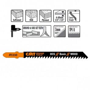 CMT Stiksavklinge 100mm HCS (Træ, Lige, Grov) JT111C-5