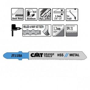 CMT Stiksavklinge 76mm HSS (Metal, Lige, Fin) JT118A-5