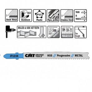 CMT Stiksavklinge 100mm HSS (Metal, Lige, Fin) JT123X-5