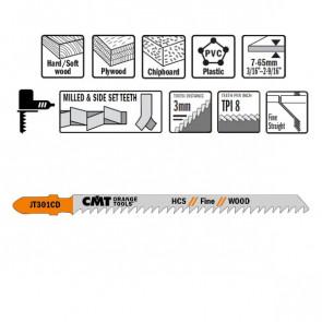 CMT Stiksavklinge 116mm HCS (Træ, Lige, Fin) JT301CD-5