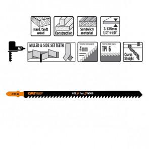 CMT Stiksavklinge 155mm HCS Fast (Metal, lige) JT744D-3