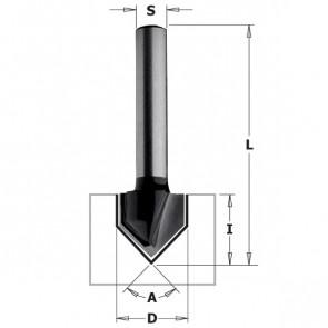 CMT V-Notfræser 12,7x12,7 K8 C - K915-127